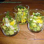 recette TARTARE DE CREVETTES MANGUE AVOCAT
