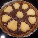 recette Tarte gourmande poires chocolat
