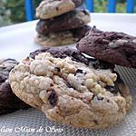 recette COOKIES MARBRéS DEUX CHOCOLATS