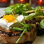 Côtelettes de porc BBQ, chèvre et piment d'Espelette de Sainte-Béatrix