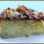 recette Gâteau fondant pommes/abricots au croquant caramélisé de macadamia.