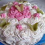 recette Gâteau au fruit rouge et sa créme