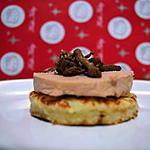 recette crêpe vonatienne au foie gras accompagnée de ses petites girolles persillées