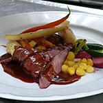 recette Magret de canard aux gros sel, sauce à l'orange