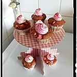 recette muffins aux pralines rose et chantilly au lait de coco