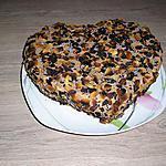 recette fondant amande, choco-café de cathou pour la saint valentin.