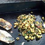 recette maquereaux à la plancha et ses courgettes à la provençale