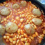 recette Haricots au boulettes et chorizo