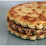 recette Burger de soja en sandwich pour déjeuner sous le noyer...
