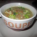 recette potage brocoli,  chou fleur,    champignons