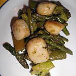recette noix st-jacques sautée au legume vert