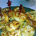 recette Feuilleté roulé surimi chevre
