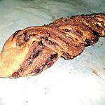 recette Tresse au Nutella pralin amande