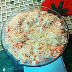 recette Chou fleur et surimi. Le gratin
