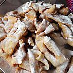 recette MERVEILLES  (beignets de mardi gras)