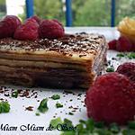 recette MILLE CRêPES FRAMBOISE & CHOCOLAT