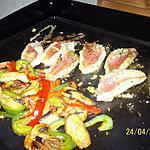 recette Rouget et légumes à la plancha