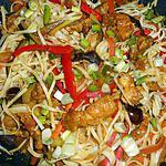 recette Nouilles chinoises sautées au porc et légumes