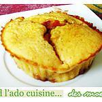 recette Moelleux citronnés, coeur coulant de fraise