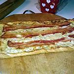 recette Tarte fine ricotta lard