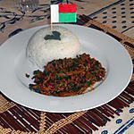 recette Haché de boeuf à la coriandre (toton-kena sy kaotimila)