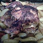 recette poulet roti et pomme de terre