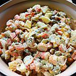 recette Macédoine crevettes / surimi