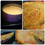 recette Gâteau magique coco-framboise