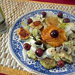 recette assiette du soir    endive ,     courge ,  palets légumes ,    cerises  au vinaigre