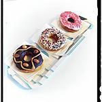 recette donuts trois parfum cacahuète ou chantilly ou fraise