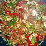 recette Wok de dinde aux pousses de soja