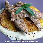 recette Aiguillettes de canard à l'ananas poêlé