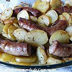 recette Saucisse de Toulouse confite et pommes de terre fondantes