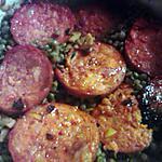 recette lentille aux chorizo
