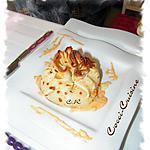 recette Aumônières de Saint Jacques et fondue de légumes épicée