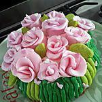 recette Notre (gâteau) bouquet de fleurs pour ma mamie gâteau