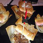 recette Coupole de brick banane chocolat marshmallow