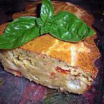 recette Cake à la mozzarella et aux légumes du soleil ...