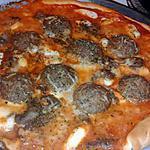 recette Pizza au boulettes