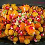 recette Salade de patate douce aux pois Chiche et Grenade