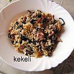 recette Riz aux champignons