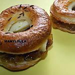 recette Mini bagels au maroilles et confit d'oignons