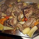 recette Pot au feu a la queue de boeuf et légumes anciens