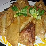 recette Samoussa bœuf pomme de terre kiri olives