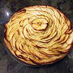 recette Tarte aux pommes - rosace