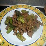 recette Boeuf saute au brocolis