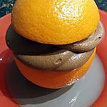recette ~ Oranges givrées chocolat ~
