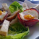 recette Coupelle d'œuf au bacon chèvre