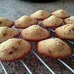 recette Madeleines sirop erable/pralin