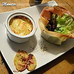 recette Petit gratin Alsacien et feuille de chêne en corbeille.